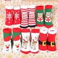 2016 Новых Мальчиков Девочек Мода Носки Малышей Рождество Стиль подарок Хлопок Терри Трикотажные Носок 1-6 Лет Дети Милый Носок C64