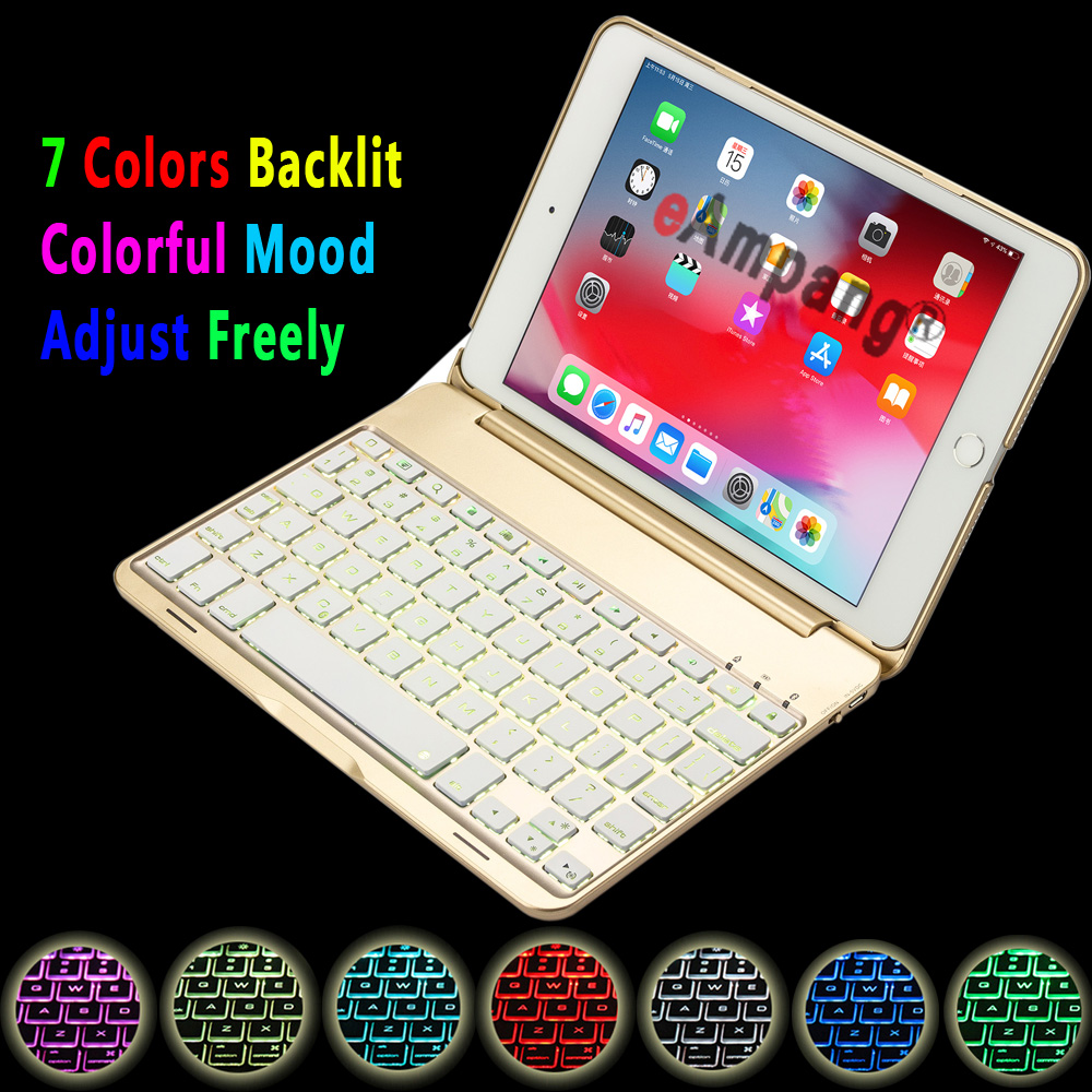 Keyboard Case for Apple iPad mini 5 2019 Cover iPad mini 4 mini5 mini4 A2133 A2124