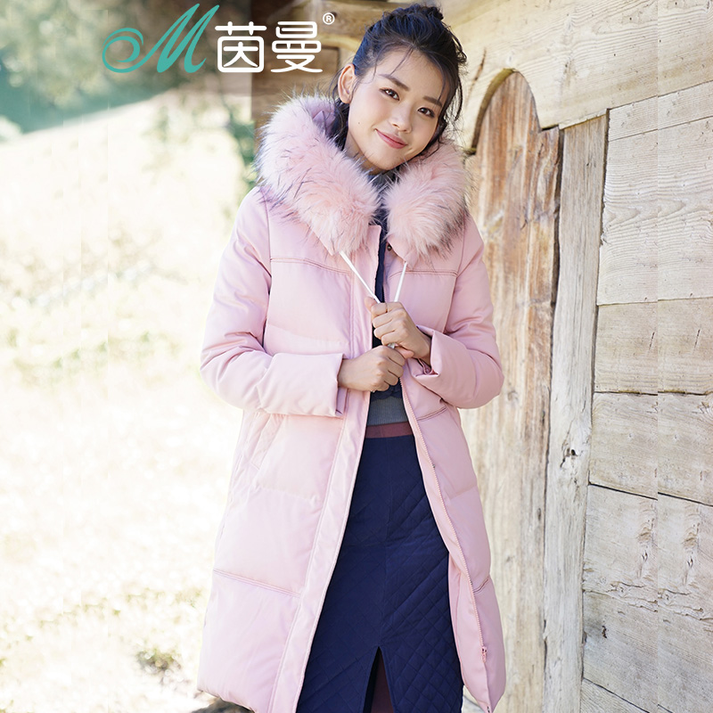 INMAN Women Winter fur collar hooded   down     coat   to warm eiderdown   Coat
