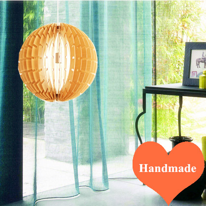 Chinese rural style creative Ply-Wood chips Chandelier handmade indoor E27 spherical led lamp for stairs&gallery&porch BT116-400 2016 creative novelty blue shade ply wood chips chandelier e27 led floral lamp indoor lamp for stairs