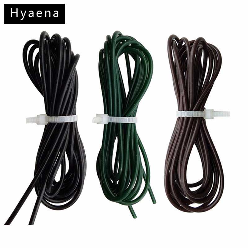 Hyaena 3pcs/set 2 Meters Carp Fishing Silicone Rigs Tube Sleeves Soft Carp Rigs Tube Carp Fishing Accessories Black Green Coffee