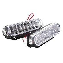 2 светодио дный шт./компл. SMD LED авто DRL светодио дный светодиодные дневные ходовые огни Противотуманные фары лампа внешний свет автомобиля Стайлинг белый DC 12 В в