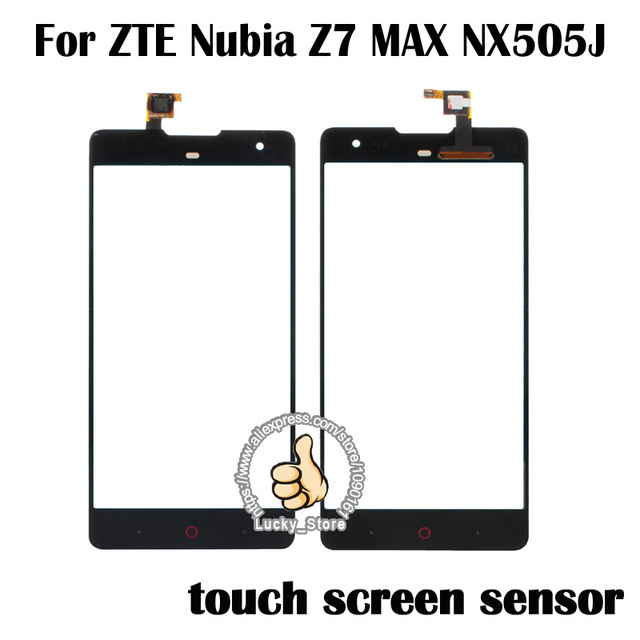 Black White Touch Panel For ZTE Nubia Z7 MAX NX505J Touch Screen Digitizer Glass Sensor Panel No LCD Replacement TP