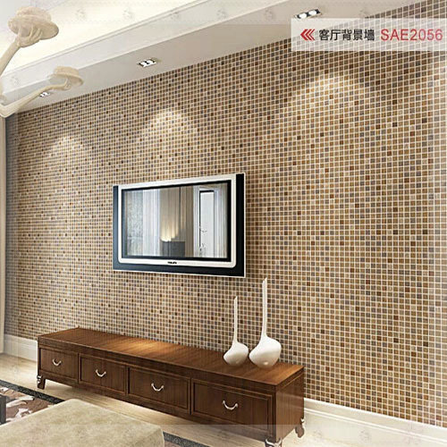 Nice Wallcoverings Mosaic Wallpaper 3D Waterproof Stereo Wall Paper Plaid Kitchen  Bathroom Wall Decor Papel De Parede Adesivo Electri In Wallpapers From Home  ...