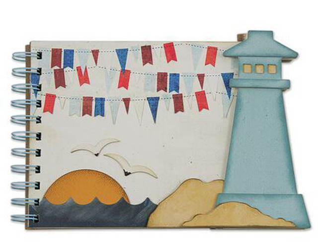 Metal Cutting Dies Scrapbooking lighthouse sea album cover Craft ...