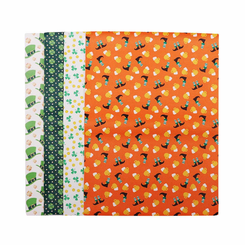 JOJO moños 22*30cm tela Artificial de cuero sintético para costura hojas impresas para moños ropa costura Decoración material