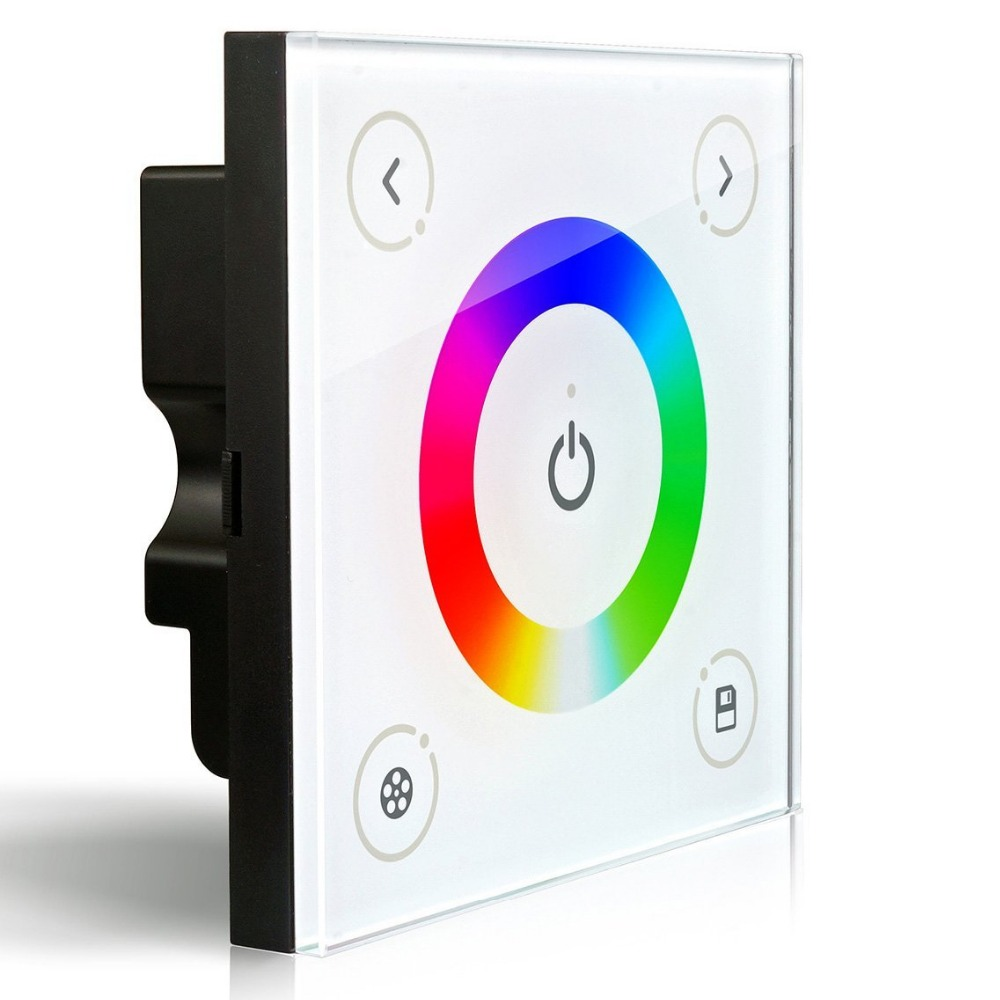 ФОТО DC12-24V 16A 192W 384W D4 Wall-mounted Touch Panel Full Color Dimmer Controller For 5050 3528 RGB Multicolor LED Strip Lighting