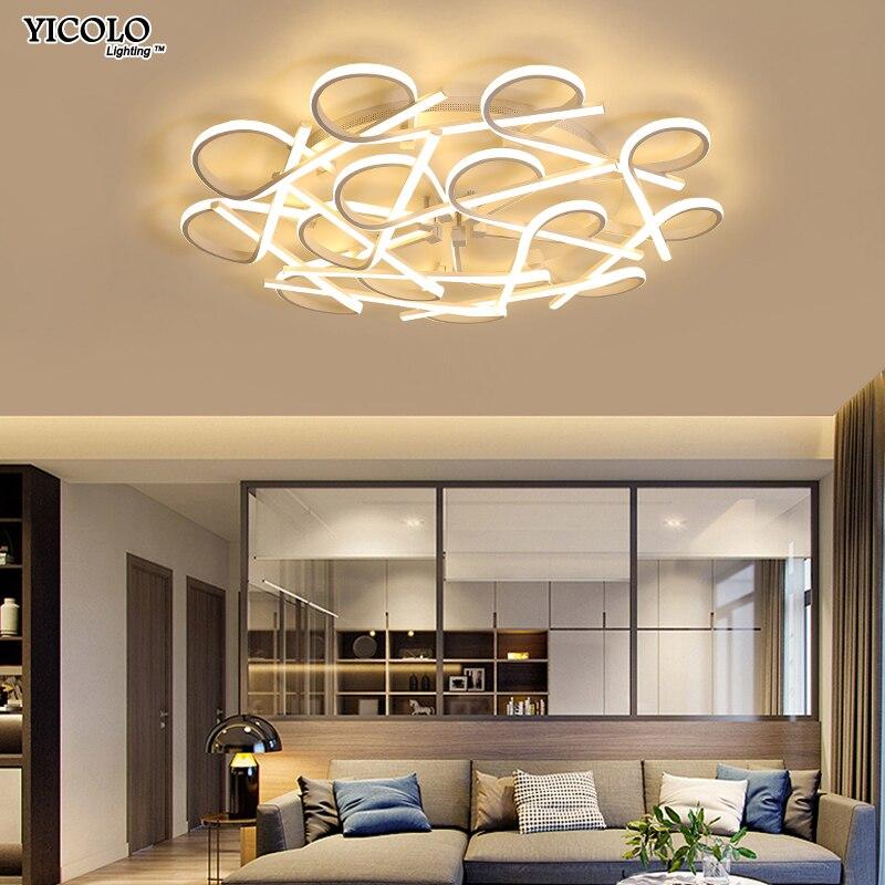 Surface Mounted Moderna Ha Condotto Le Luci del Soffitto lamparas de techo bianco telaio nero lampada A Soffitto fixtures per camere da letto Lampadina A Risparmio Energetico