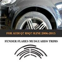 10 13 Q7 PU Wheel Arch Car Wheel Fender Flare Auto Wheel Flaps Modling Trims For