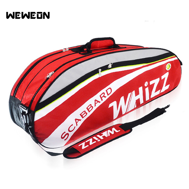 Shoes Provided New Professional Training Sport Big Capacity Bag Shoulder Bag For Badminton Tennis Rackets Gym Men Women Big Clearance Sale