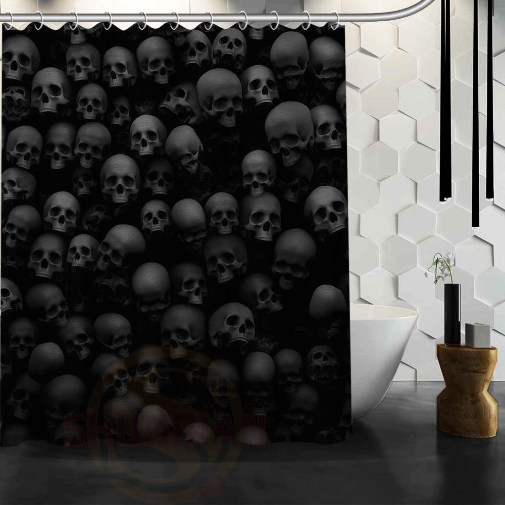 skulls punk black Shadowland custom Shower Curtain Bathroom decor fashion  design Free Shipping   48x72. Online Get Cheap Skull Window Curtains  Aliexpress com   Alibaba Group