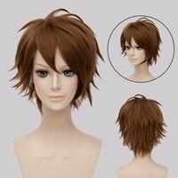 Nouvelle Arrivée Idolish7 Tsunashi Ryunosuke Droite Courte Cosplay Perruque de Haute Qualité Synthétique Cheveux Anime Costume Party Perruque Brun