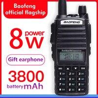baofeng uv 82 walkie talkie 8w Dual Band uhf&vhf two way radio uv 82 FM Ham radio 10KM Long Range Powerful woki toki (black)