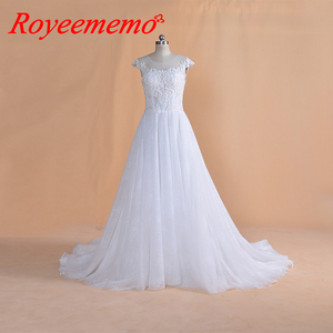 Image 1 - 2019 New Design lace Wedding Dress classic wedding gown real image factory made wholesale price bridal dress