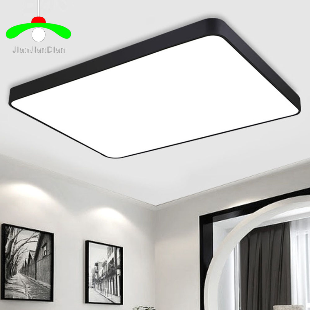 Buy modern led ceiling light rectangle restaurant lamp dimming ultra thin brief - Diy ceiling lamps ...