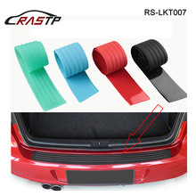 Durable Universal 90cm 104cm Car Styling Rear Trunk Sill Plate Bumper Protector Rubber Pad Decorative Strip RS3-LKT007