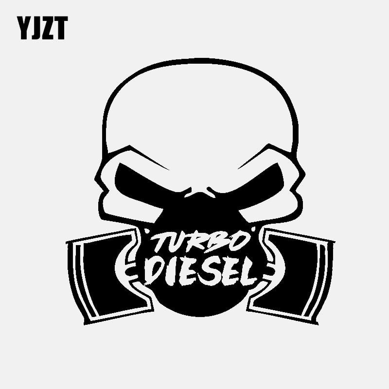 YJZT 15.5CM*15.4CM Car Sticker Vinyl Decal TURBO DIESEL Power Truck Window Black/Silver C3-0991