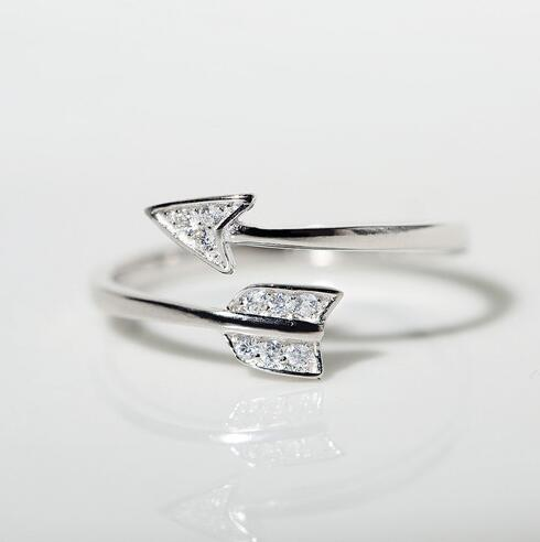 Neuheiten 925 Sterling Silber Ringe Für Frauen Mädchen Amor Pfeil - Modeschmuck - Foto 2