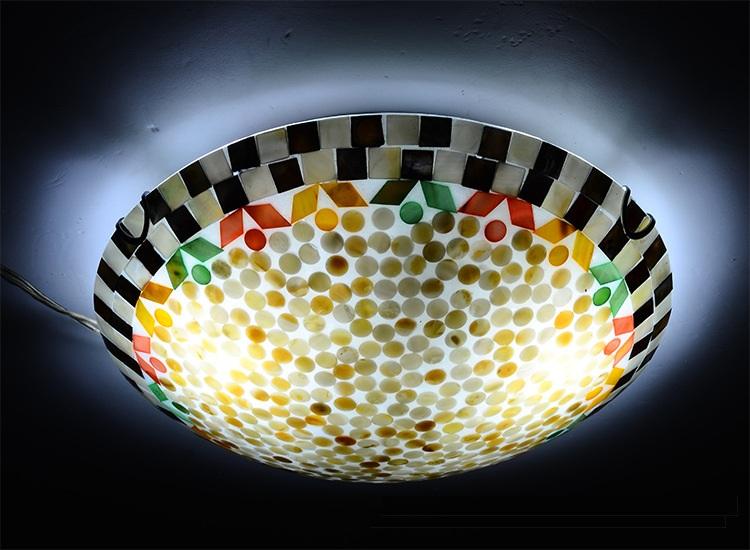 estilo mediterrneo natural shell luces de techo lustres luz de noche led lmpara de barra de