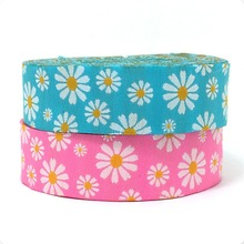 """16mm 5/8"""" and 22mm 7/8"""" 10y/lots Woven Jacquard ribbon 2016 New clothing accessories Pink and blue 2016 flower ribbon dog ribbon"""