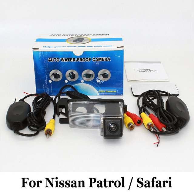 Car Rear View Camera For Nissan Patrol / Safari Y61 / RCA AUX Wired Or Wireless / HD CCD Night Vision / Wide Lens Angle Camera