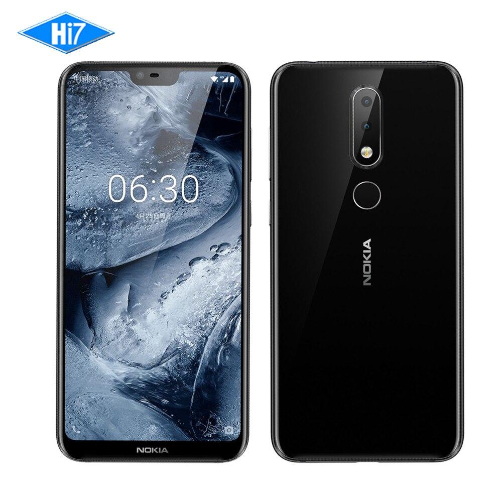 Nouveau Nokia X6 2018 64g ROM 4g RAM 3060 mah 16.0MP 3 Caméra Double Sim Android LTE D'empreintes Digitales 5.8 pouce Octa Core Téléphone Mobile Intelligent