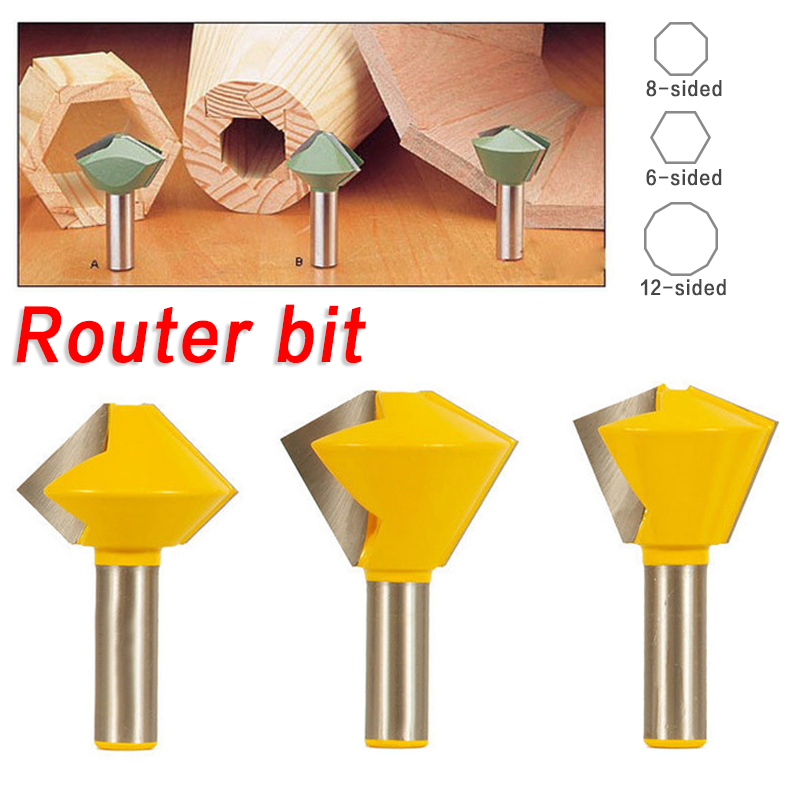 1/2 Shank Multilateral Knife Bird Mouth Interface Knife Groove Router Cutter Woodworking Tool ontario knife rat 1