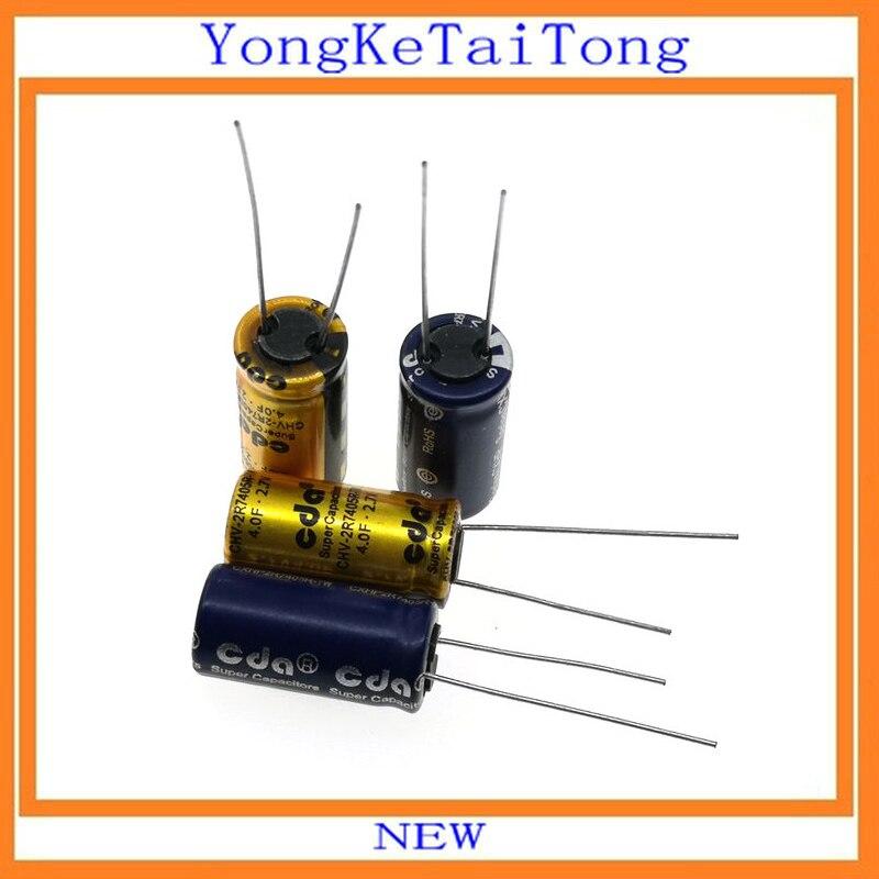 2PCS 2.7V 2.7V4F 2.7V5.0F 2.7V8F 1F 2F 3.3F 4F 5F 5.0F 6F 7F 8F 10F 15F SuperCapacitor  10*20mm Farah Capacitor