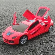 YIJUN YJ388-23 Electric Plastic Model Toys 3D Flashing Car Sound Light Universal Emulation Sport Concept Car Toys For Children