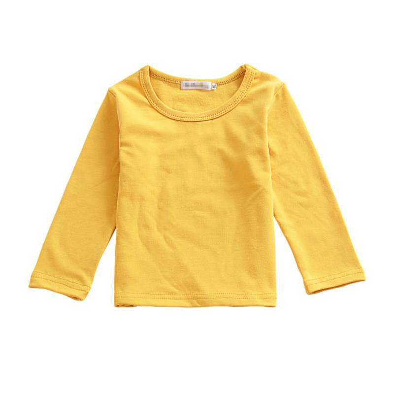 Baby Girl Clothes Children T-shirt Kids Toddler Soft Long Sleeve Stitching Cotton Tees Tops Autumn Shirt Blusas(China)