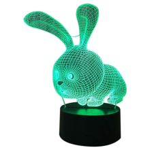 Brand New Lovely 3D Rabbit Shape Lamp LED Atmosphere Light with Switch Button as Children Holiday Gifts Best Baby Slee