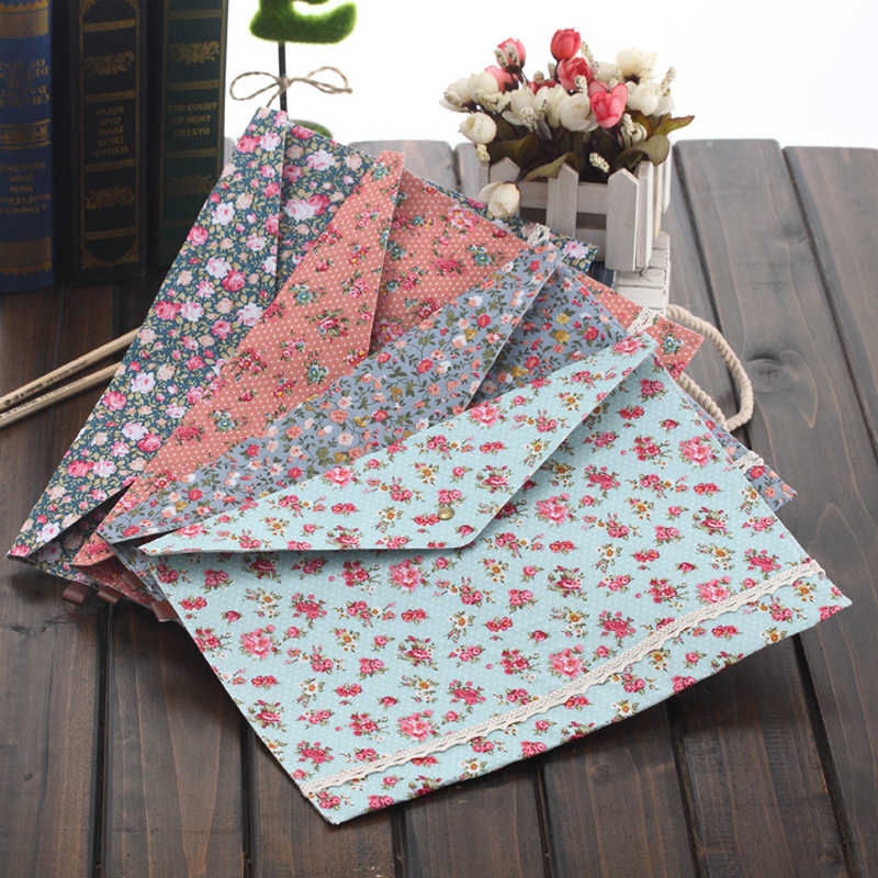 4 Pcs/lot New Vintage Dots Flower Face Series A4 Documents File Bag  Files Folder Stationery Filing Production Free Shipping