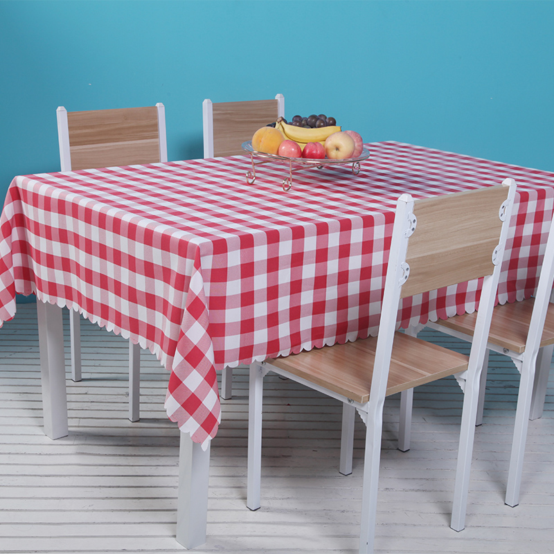 3 Color Modern Plaid Style Round Rectangular Tablecloths Multi-function Restaurant Banquet Table Cloth Restaurant Fast Shipping
