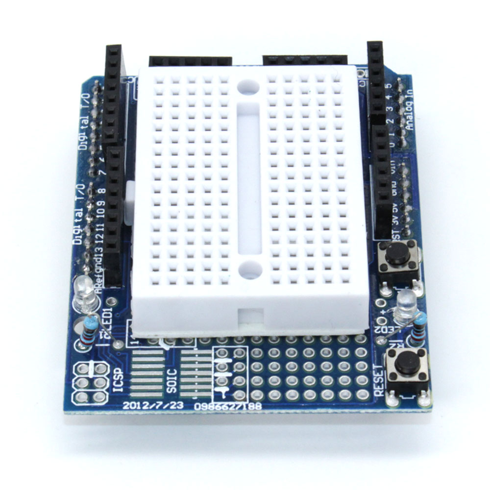 10PCS High Quality!! UNO Proto Shield prototype expansion board with SYB-170 mini breadboard based For ARDUINO UNO ProtoShield nano uno shield adapter nano development board for arduino