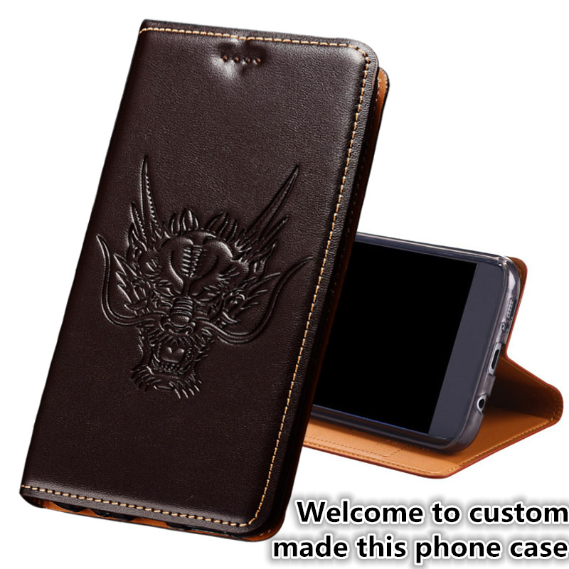 HY13 Genuine leather flip coque cover with card holder for font b OnePlus b font font