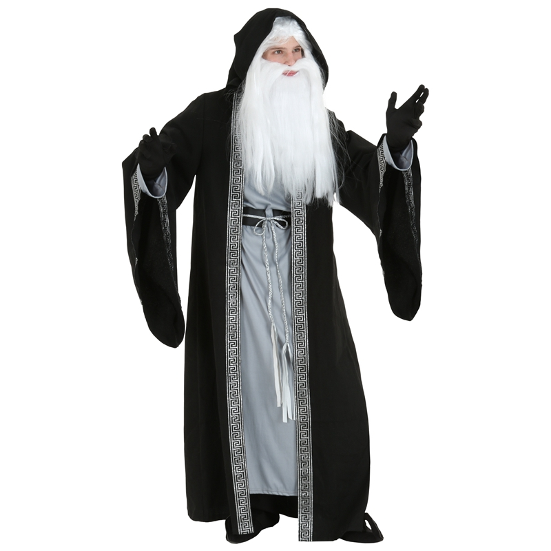 Roomy And Comfortable Adult Deluxe Magic Wizard Halloween Costume