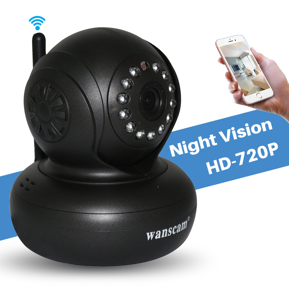 Wanscam WiFi Wireless P2P CCTV Security 1.0MP HD 720P IP Camera Motion Detection Pan/Tilt 2 Way Audio Night Vision Baby Monitor bw wifi wireless hd 720p smart p2p ip box camera two way voice intercom motion detection ptz baby monitor automatic alarm cctv