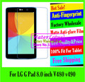 For LG G Pad 8.0 inch V480 v490 LCD film Matte Anti-glare screen protector de pantalla protective film plate pelicula notbook