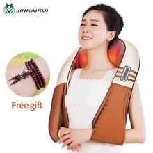 (С подарочной коробкой) JinKaiRui U форма электрические шиацу сзади средства ухода за кожей Шеи плечо массажер для тела инфракрасн