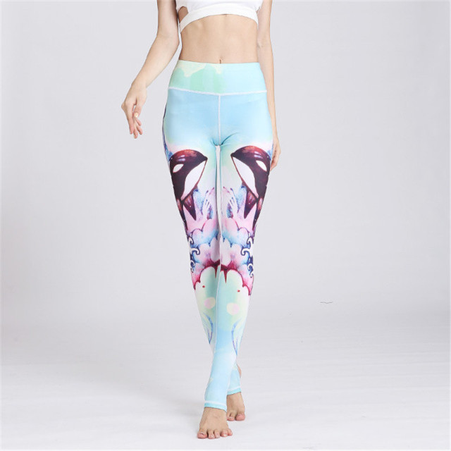 fd915b1814754 ESHINES Women Sexy Yoga Pants Printed Dry Fit Sport Pants Fitness Gym Pants  Workout Running Tight Sport Leggings Female Trousers