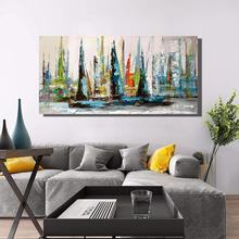 100% Hand-Painted seacape  Oil Paintings on Canvas Wall Art for Abstract wall Modern Home Decoration Artwork