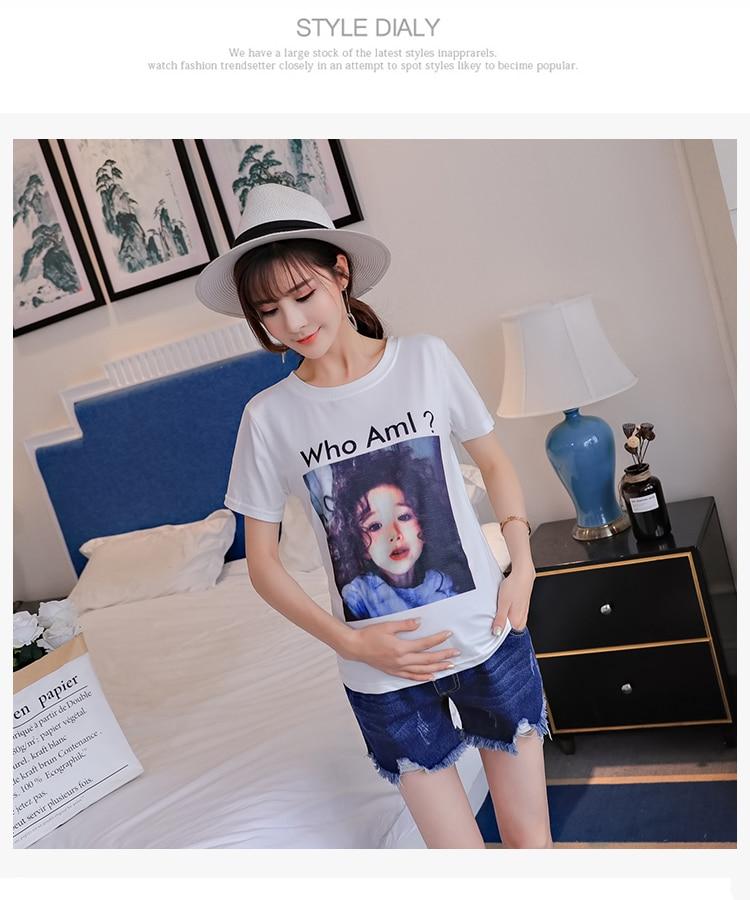 Сломанные женские джинсовые шорты для беременных Регулируемый живот короткие джинсы одежда для Pregannt Женская одежда для беременных большая