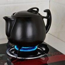 Традиционный отмывки тушеная присущая средствам китайской медицины керамический горшок жар-устойчивость к высокой температуре кастрюля здоровье Травяной чайник плита
