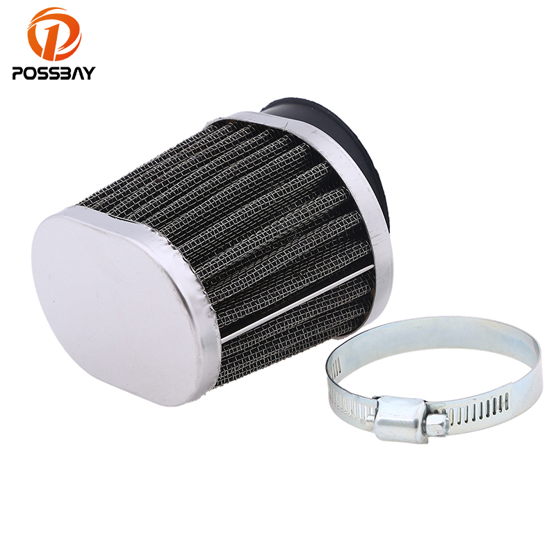 POSSBAY 50mm Motorcycle Air Filter Motocross Scooter Air Pods Cleaner for Yamaha Kawasaki Suzuki Honda Shodow Scooter Air Filter