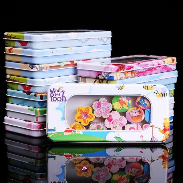 Wooden Stringing Beaded Toys Baby Educational Montessori Blocks Hama Beads  Iron Storage Box For Birthday Gift