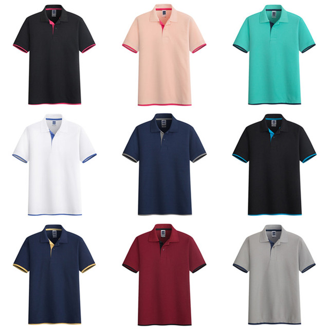 Mens Polo Shirt Brands Clothing short Sleeve Summer Shirt Man Black Cotton Polo Shirt Men Plus Size Polo Shirts 55