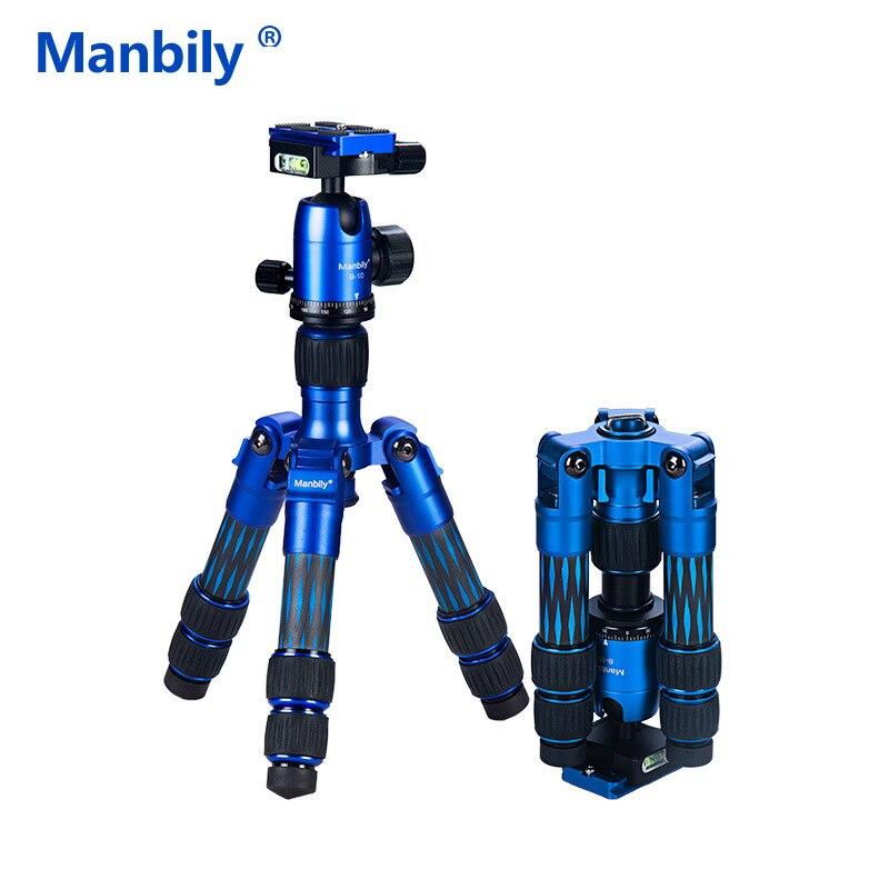Firbe Carbono Tripé Manbily DT-01C Mini Mesa Perfeitamente para o disparo Da Câmera Gorpo Mirroless Celular Compacto Fácil de transportar