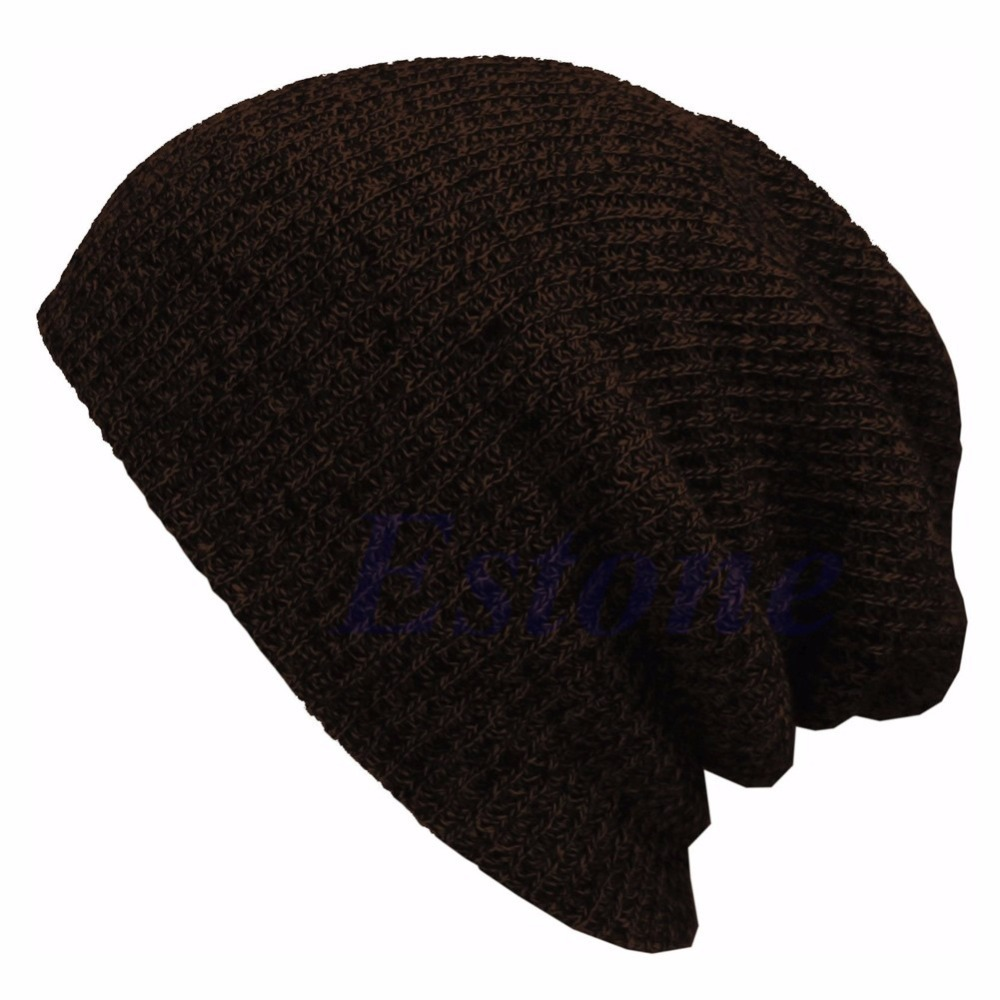 Winter Casual Cotton Knit Hats For Women Men Baggy Beanie Hat Crochet Slouchy Oversized Cap Warm Skullies Toucas Gorros winter hat casual women s knitted hats for men baggy beanie hat crochet slouchy oversized ski caps warm skullies toucas gorros