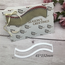 Lace irregular shape Cutting Die Metal for Scrapbooking Wedding Dies New 61*152mm