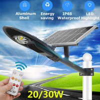 Smuxi 20/30 Вт Водонепроницаемый солнечный уличный свет солнечный радар Сенсор Road лампа с ARM AC110 220V LED industrial light